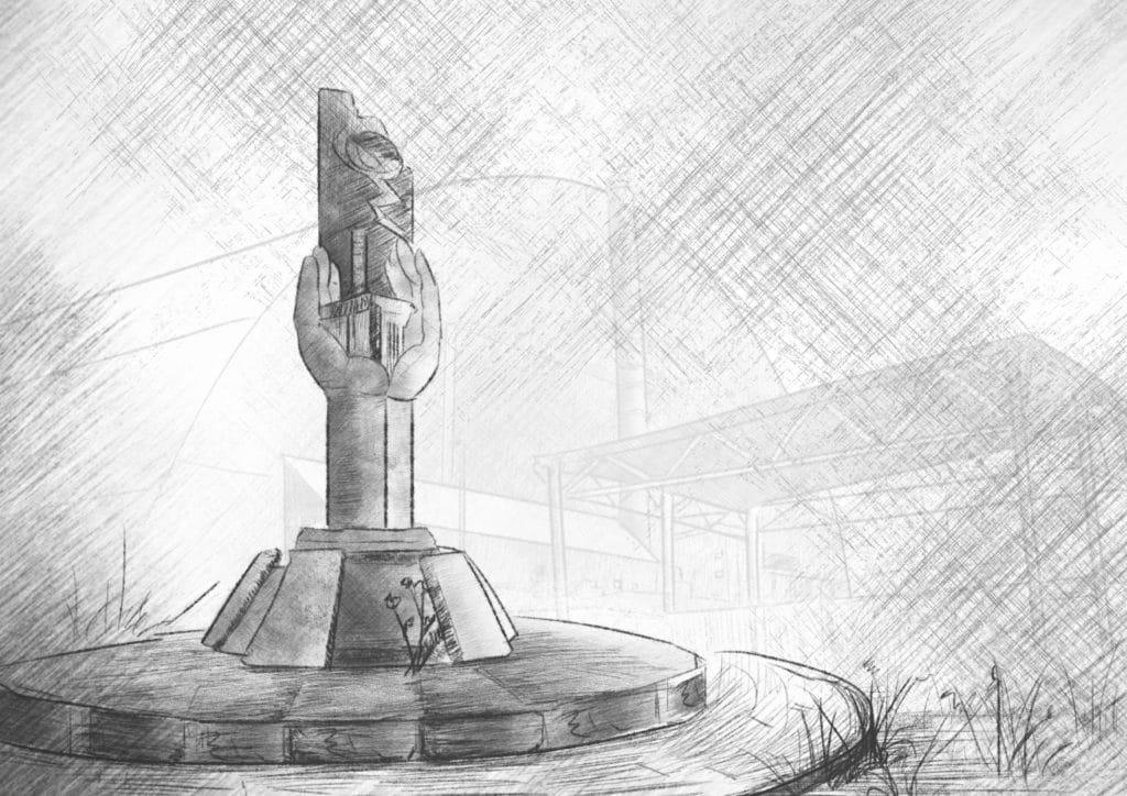 """""""La pata de elefante"""": lava radiactiva de Chernobyl"""