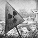Limpiando la 3a unidad de potencia de Chernobyl: una escoba, un cubo con trapo y una pala